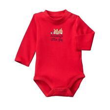 NWT 0-3M GyMbOrEe Corgi Red Mommy's Little Guy Long Sleeve Bodysuit shirt top