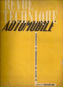 REVUE TECHNIQUE AUTOMOBILE 35 RTA 1949 ETUDE TRACTEUR MAP DR3 DIESEL