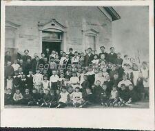 1880s Burlington New West Free School Students Utah Original News Service Photo