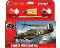 AIRFIX 1:72 HAWKER HURRICANE MK.I MODEL AIRCRAFT KIT STARTER SET A55111