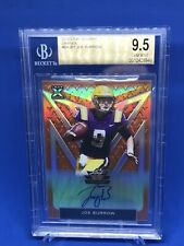 Joe Burrow 2020 Leaf Valiant BGS 9.5/10 Orange Rookie Autograph 6/50 Bengals LSU