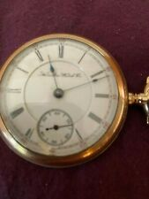 Face Size 18 With 17 J Hamilton 1901 Gold Pocket Watch Open