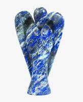 Lapis Lazuli Stone Carved Angel Reiki Psychic Spiritual Gemstone Guardian Gift