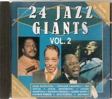 CD COMPIL 24 TITRES--JAZZ GIANTS VOL 2--ELLINGTON/GRAPPELLI/TATUM/HAMPTON/JAMES