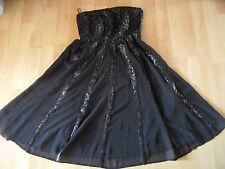 ESPRIT collection chices trägerloses Kleid schwarz Pailletten Gr. 32  416