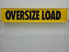 "MS CARITA AV104 18"" x 84"" Oversize Load Sign Solid Vinyl w/ Grommets"