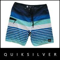 Quiksilver Men's Stripe Casual Swim Wear Board Shorts Size 34