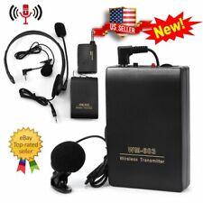 Portable Wireless Microphone Headset Clip Lavalier Mic Meeting Speech Marketing