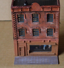 HO Scale Flat Building LED Clothing Store Scratch Built Weathered SBCs