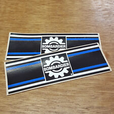Bombardier NOS Decal Set Blue White Black Vintage Stickers Rare ATV Snowmobile