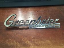 1966 CHEVROLET GREENBRIER VAN FRONT FENDER EMBLEM '66 CHEVY OEM ORIGINAL 1965