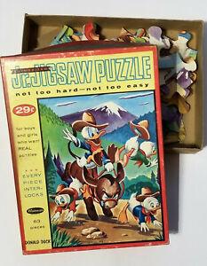 1960s Donald Duck 63 Piece Jr Jigsaw Puzzle Whitman - Complete
