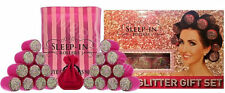 Sleep In Rollers PINK MULTI GLITTER Gift Set in Box - 20 Rollers, Bag, Clips