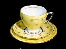 Beautiful Royal Grafton Yellow With Gold Stars Trio