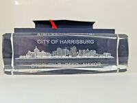 City of Harrisburg Pennsylvania Seal of the Mayor Stephen R Reed desk name block