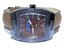 Mens Iceman Cheap Stainless Steel Swiss Movt 2.50ct Black Diamond Watch