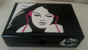 Box Made by Hand, Handmade, Of Carton With Pictorial, A Female Modern