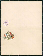 Militari WWI Propaganda Bandiere Alleati cartoncino formato cartolina XF0444