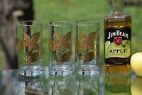 Vintage GOLD Highball Glasses, Set of 4, Vintage Whiskey Glasses, Cocktails