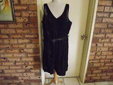 City Chic Black Shiny Skater Style Dress sz L
