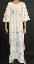 Vintage 70s Embroidered Caftan Boho Hippie Festival Dress OS LEANDRA Philippines