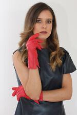 Lederhandschuhe, Nappaleder , schwarz in XL und rot in XXL