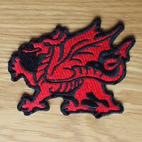 Motorcycle Biker Cloth Patch Leathers Vest Waist Coat Kutte Welsh Dragon Wales