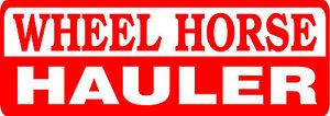 WHEEL HORSE HAULER DIE CUT DECAL - SET OF 2 - RED