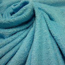 Stoff Meterware reine Baumwolle Frottee Frotté doppelflorig aqua blau Pool weich