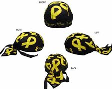 Support our Troops Yellow Ribbon Military Do Rag Doo Rag Skull Cap Head Wrap
