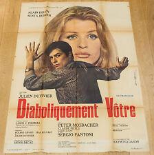 Affiche de cinéma : DIABOLIQUEMENT VOTRE de JULIEN DUVIVIER  /  ALAIN DELON
