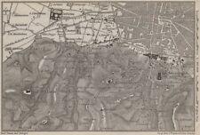Bolonia alrededores. Certosa. Madonna di San Luca. Santo Michele en Bosco 1909 Mapa