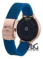 Navy & Rose Gold SnuG watchband Women's Moto 360 16mm Watch Band 2nd Gen Moto360