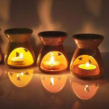 Candle Oil Burner Black With Fragrance Oil Simmering Granules Wax Melts Ceramic