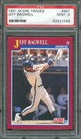 1991 score traded #96t JEFF BAGWELL houston astros rookie card PSA 9