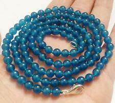 """50"""" 8mm Apatite Gemstones Round Beads Fashion Necklace AAA"""