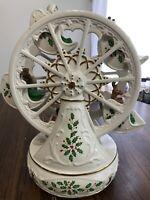 Lenox 2000 Porcelain & Gold Trim Retired Christmas Ferris Wheel Music Box *FLAW*