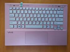 New Sony vaio SVS13 SVS13P SVS131B11L Pink Palmrest Upper US keyboard backlit