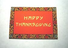 Dollhouse Miniature  Thanksgiving Welcome Mat or Rug