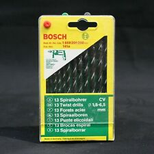 Bosch 13 Piece 1.5mm - 6.5mm CV Metal Drill Bit Set. Made in Germany. 1609200200