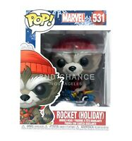 New Funko Pop Marvel Rocket Holiday 531 Vinyl Figure