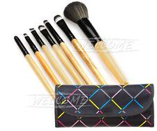 Professional 7 Piece Make Up Brush Set and Brushes Case Set