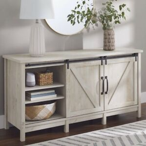 """Better Homes & Gardens Modern Farmhouse TV Stand for TVs up to 70"""", Rustic White"""