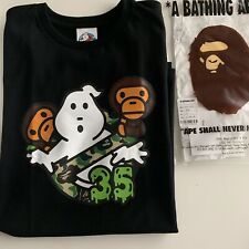 Ghostbusters X BAPE Baby Milo Tee Black Size XL Sold Out & Exremly Limited