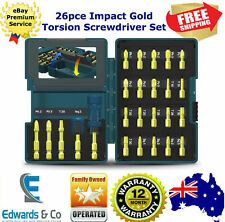 Impact Screwdriver Set Torsion Gold 26 Pce for High Torque Drivers Makita