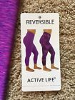 NWT Women's Purple Pink Reversible Active Life Yoga Capri Small