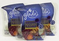 6 REFILLS Glade Plugins WONDROUS AUTUMN NIGHTS Scented Oil Refills (3 PACK)