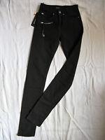 Miss Sixty Jeans Stretch Black Denim Röhre W24/L34 high waist slim fit pipe leg