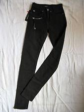 Miss Sixty jeans stretch Black Denim tubo w24/l34 High waist slim fit pipe leg