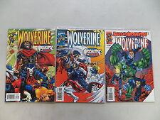 WOLVERINE 3 ISSUE COMIC RUN LOT 146 147 148 AGE OF APOCALYPSE MARVEL